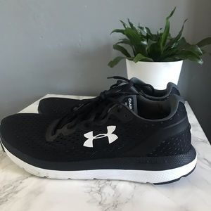 Shoes - Charged impulse black and white running sneaker